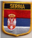 Serbia Embroidered Flag Patch, style 07.